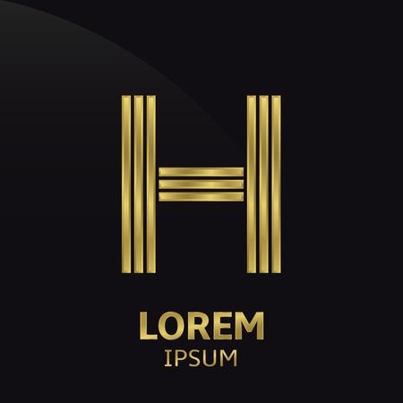 h: Golden letter symbol