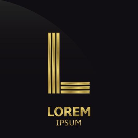 l: Golden letter symbol