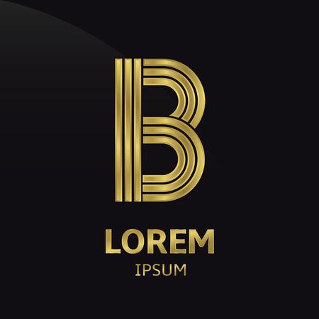 metallic letters: Golden letter symbol