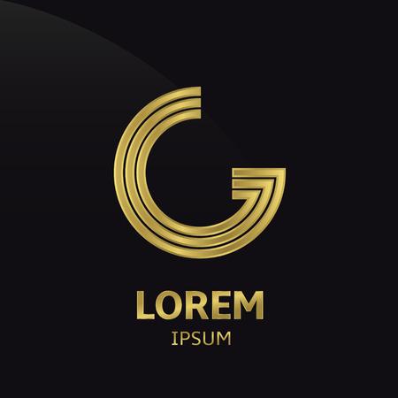 gold letter: Golden letter symbol