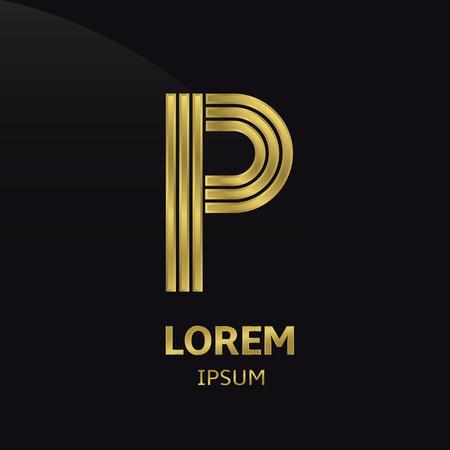 Golden lettersymbool