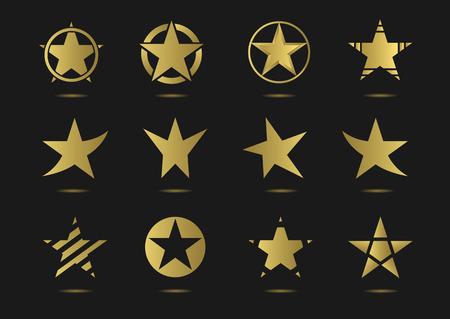 super star: star vector logo icon set