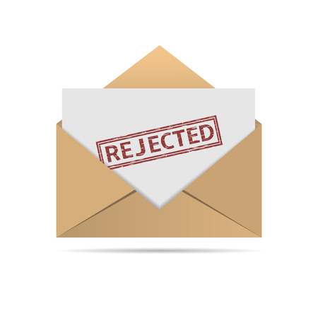 rejected: Rejected letter Illustration