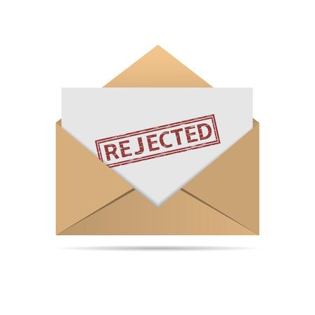 Rejected letter Illustration