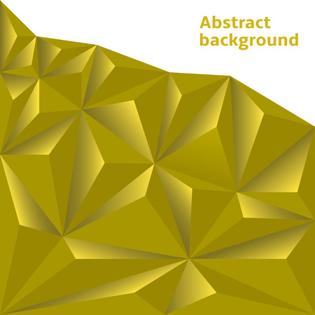 two dimensional: Golden Polygonal Background