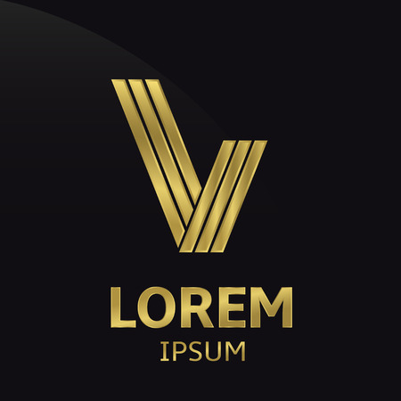 letter v: abstract logo Illustration
