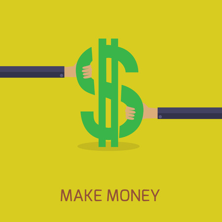 make money: flat design make money concept Illustration