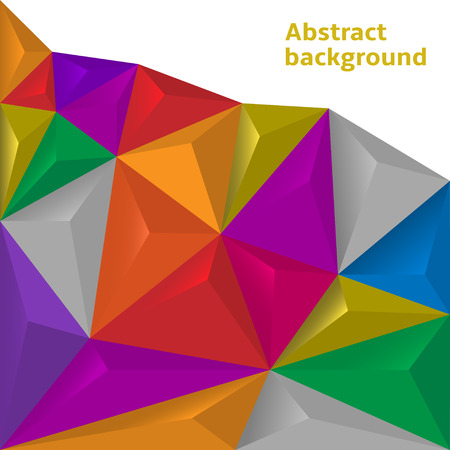 two dimensional shape: Colorful polygonal background Illustration