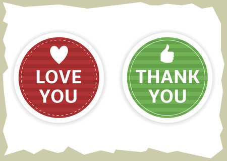 thank: Love you and thank you stickers