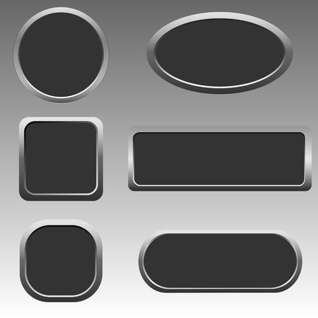 button set: Silber Web-Taste Set
