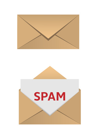 private domain: Envelope with spam message