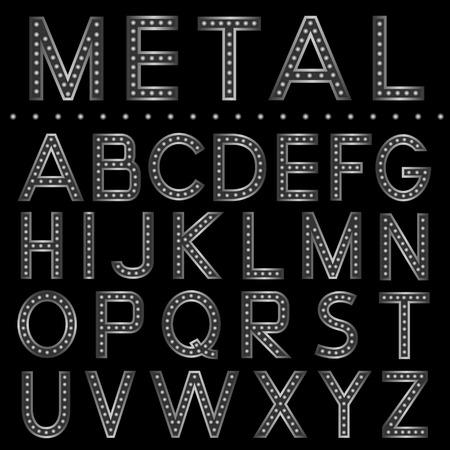 metal ball: Metal ball letters