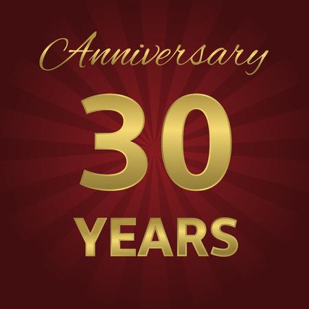 30 years: 30 years anniversary