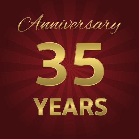 35 years: 35 years anniversary