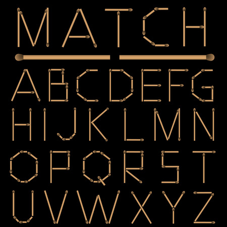 matches: Partidos del alfabeto Vectores