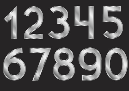 numbers: Silver numbers Illustration