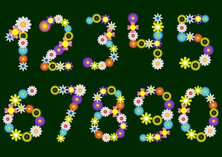 estaciones del a�o: N�mero de flores