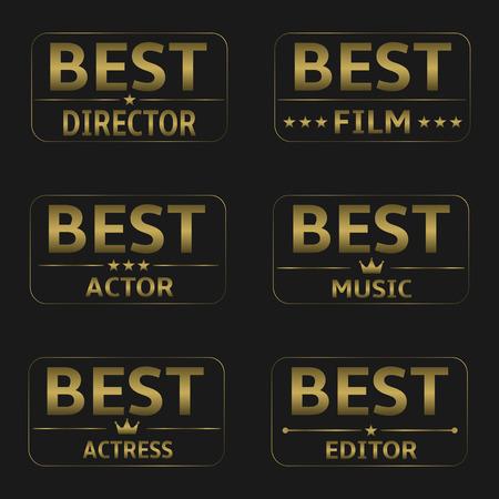 famous actress: Best Film Awards Illustration