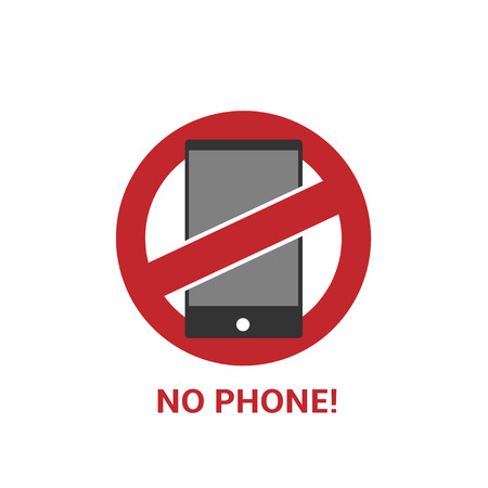 exclusion: No phone sign