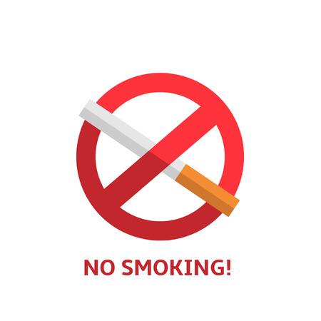 prohibido fumar: Señal de no fumar Vectores