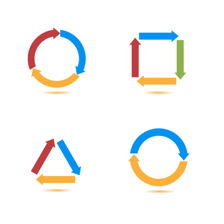 diminishing perspective: Arrow icons