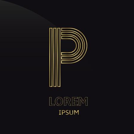 p illustration: Letter P
