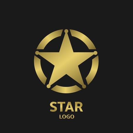 golden star: Super golden star vector logo icon for your company