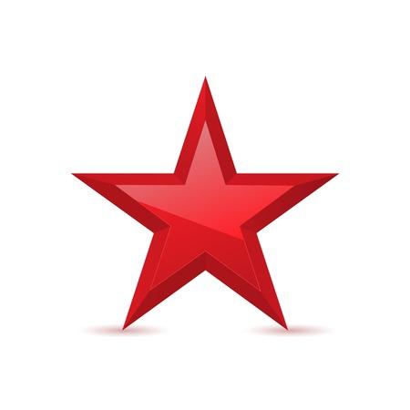 레드 스타 수상 기호 오각형 기호 벡터 일러스트 레이션