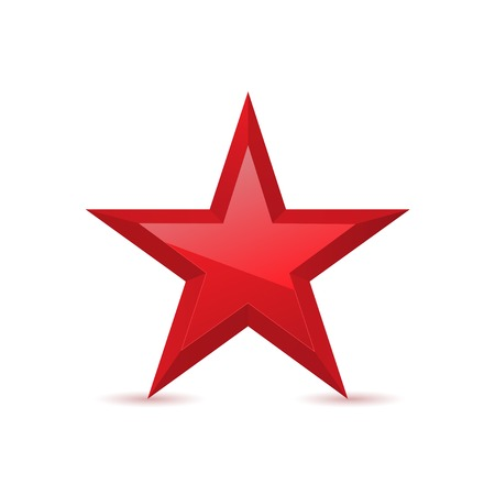 Red star award symbol pentagonal sign vector illustration Иллюстрация