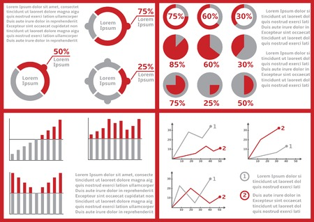 business performance: Paper documents with infographic elements for presentation or business report, Income and expenditure statement, reporting, paperwork, statement of financial condition, budget performance report