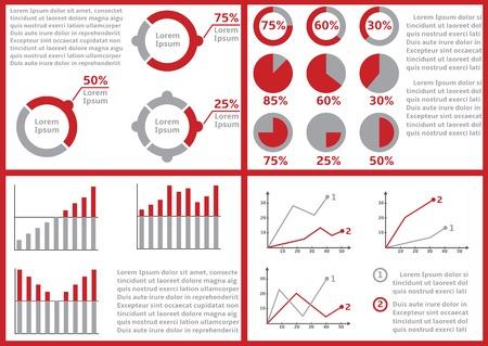 ifade: Sunum veya iş raporunda, Gelir ve gider tablosu, raporlama, evrak, mali durum tablosunda, bütçe performans raporu için Infographic elemanları ile kağıt belgeleri