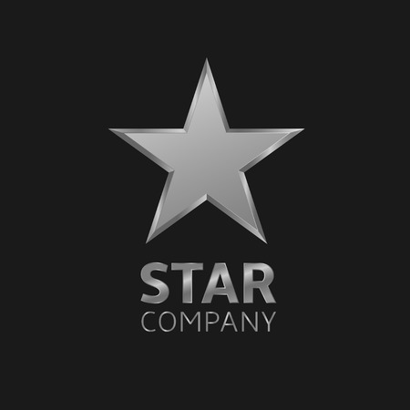 silver star: Super silver star vector logo icon for your company