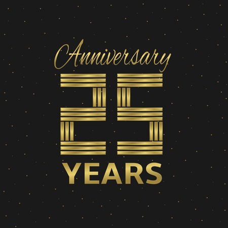 10 years: 10 years anniversary. Golden letters. Vector illustration Illustration
