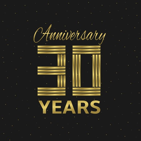10 years: 10 years anniversary. Golden letters. Vector illustration Illustration