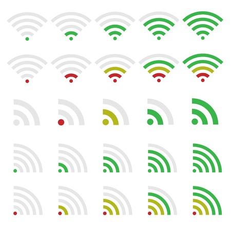 wireless technology: Wireless technology and Network icon set. Wi-fi symbols