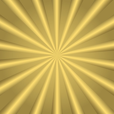 solstice: Golden striped background. Abstract golden sun rays pattern