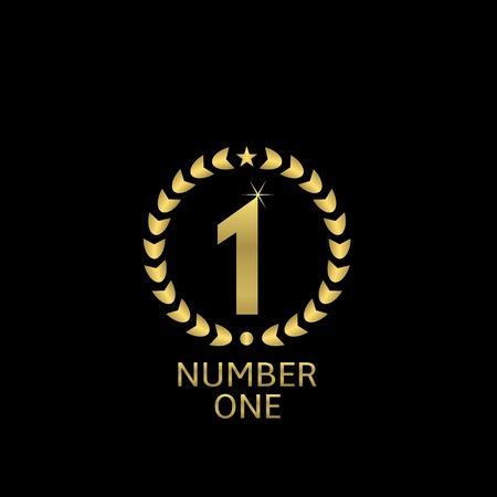 first place: En primer lugar premio de oro con corona de laurel para la presentación ceremonia del deporte o negocio la competencia
