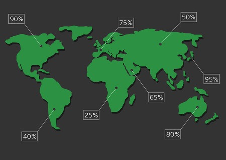 systematic: World map infographic vector illustration. Statistic and analytics.