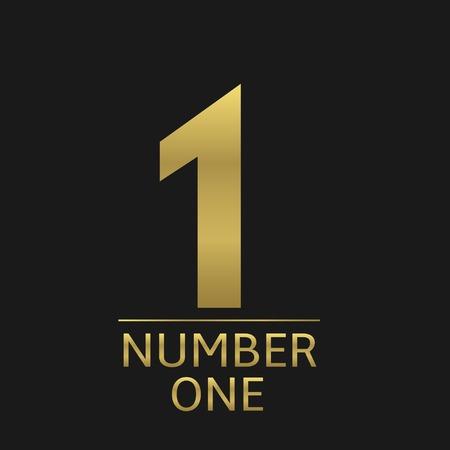 primer lugar: Oro número uno icono, ganador del campeón del primer lugar símbolo