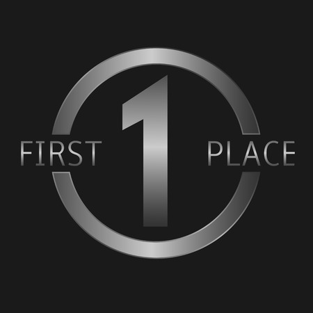 primer lugar: Plata primer lugar s�mbolo, el deporte o el concepto de negocio