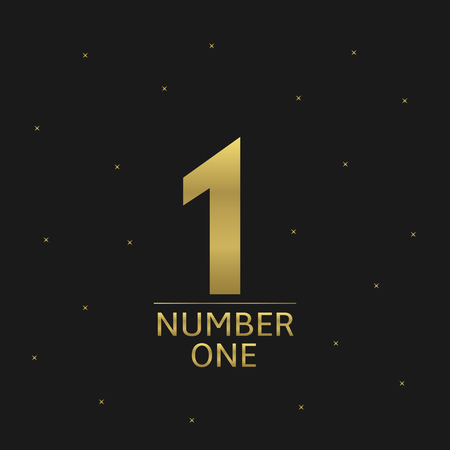 rewarding: Golden Number one award icon for rewarding ceremony. Business or sport concept Illustration