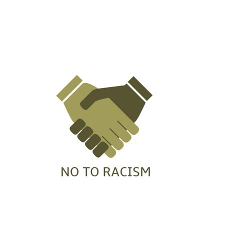 tolerancia: No a la etiqueta el racismo, el concepto de tolerancia. S�mbolo del apret�n de manos