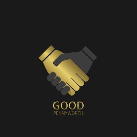 good deal: Good pennyworth, best deal concept. Handshake symbol