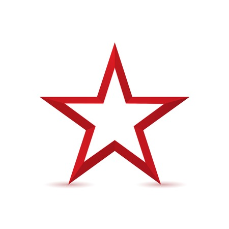 communism: Red star logo icon isolated on white background. Success, award or Communism symbol Illustration