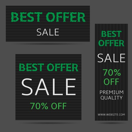 best quality: Best offer sale banner set. Premium quality