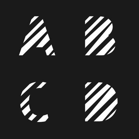 papier a lettre: White cut paper letter set. Creative alphabet