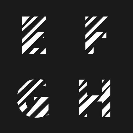 papier a lettre: Blanc coup� lettre de papier r�gl�. Alphabet Creative