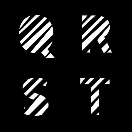 cut paper: White cut paper letter set. Creative alphabet