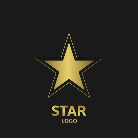 star award: Golden star logo. Award symbol, Vector illustration