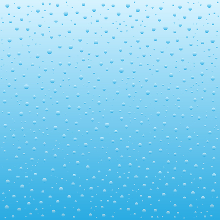 profundity: Vector illustration of Blue Water drops background